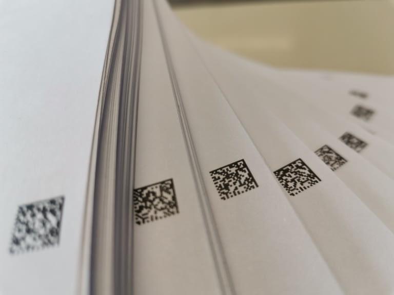 2D-Code OMR Kuvertiercode