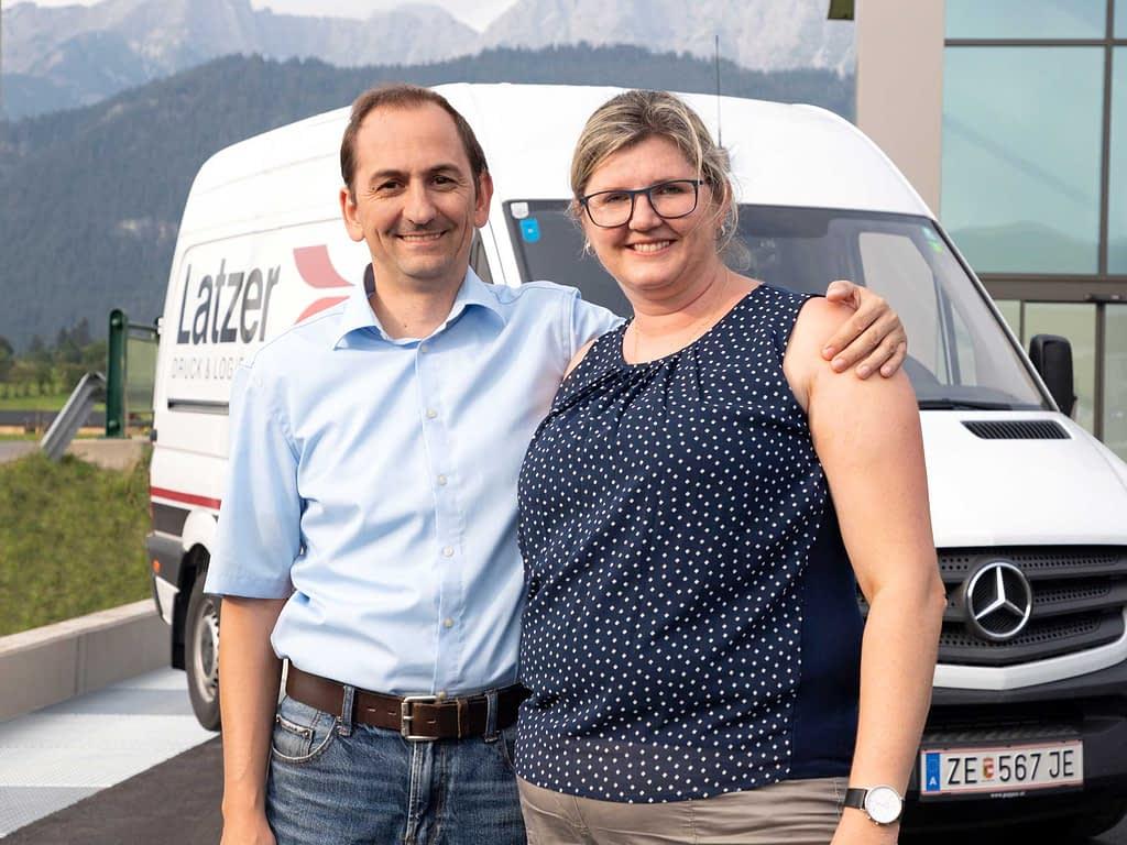 Markus und Martina Latzer - Latzer Druck & Logistik
